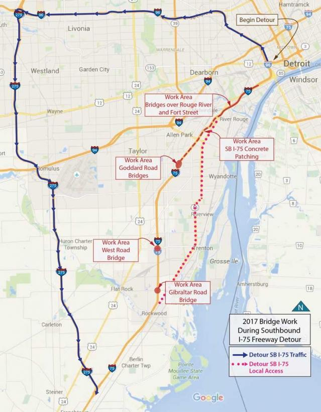 I-75 Closing Southbound Near Detroit for 2 Years